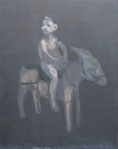 Cavaliere errante, 2010, oil on canvas, 110x140 cm