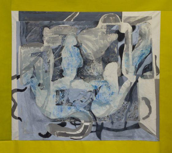 Džez na Jelisejskim poljima, pigment, resin and acrylic on canvas,190x213 cm