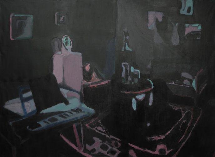 Graveyard Picnic, 2013, oil on canvas, 198x272 cm