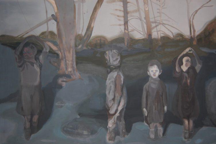 La notte, 2010, oil on canvas, 300x210 cm