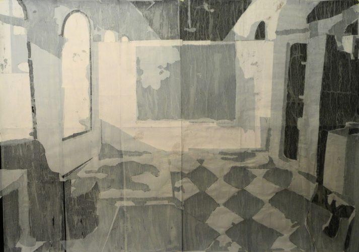 Studio, 2011, collage, 200x140 cm