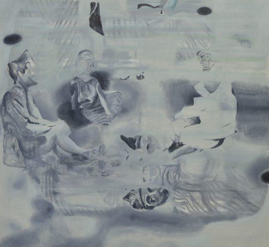Total Gleischzeitlicheit, 2016, oil on canvas,93x100 cm