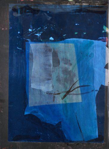 Untitled, 2017, acrylic, pvc on canvas on cardboard, 32x23,5 cm